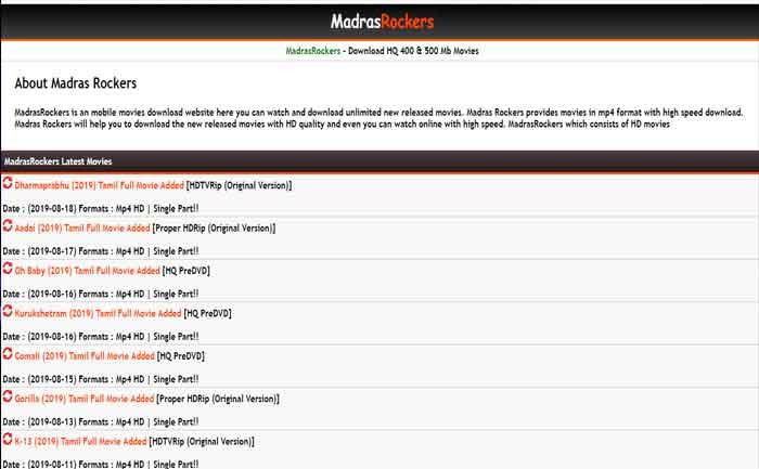 Madrasrockers Hd Movies Download