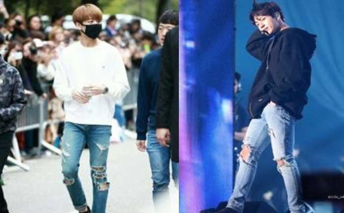 BTS Jungkook Muscular legs