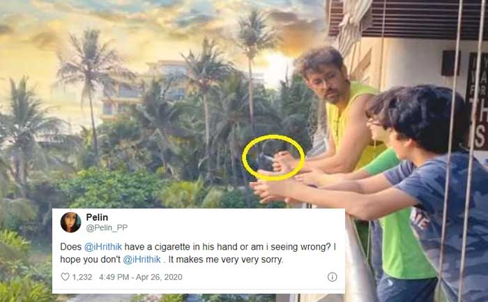Hrithik Roshan smokes infront of kids