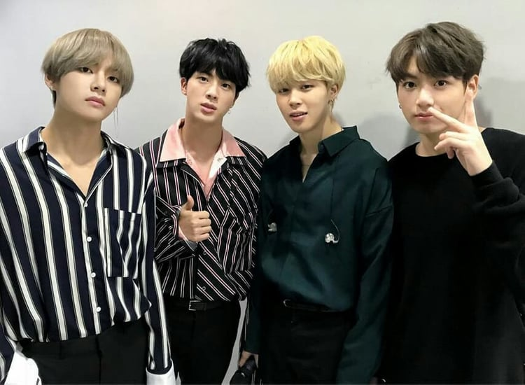BTS is full of talented vocalists and the four members are: Jin, Jimin, V and Jungkook.