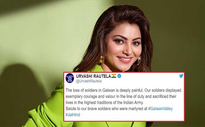 Urvashi Rautela pays tribute