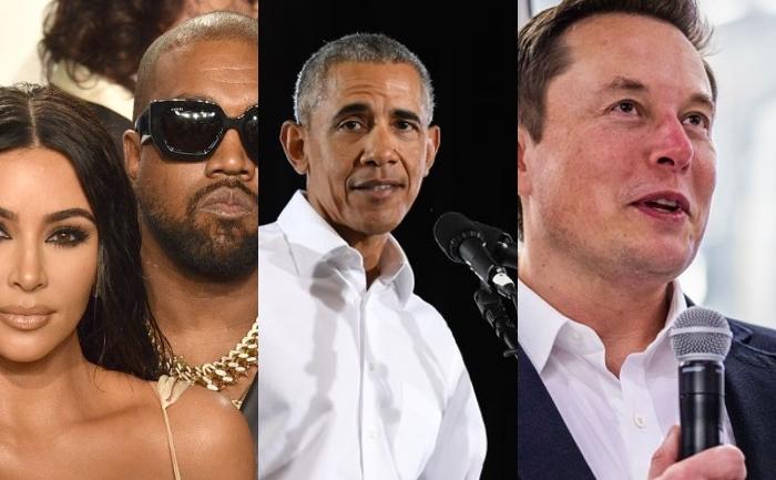 Kim, kanye, obama and elon