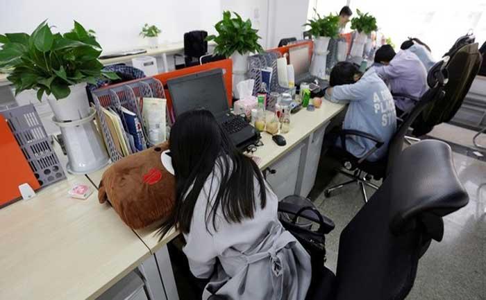 Japanese art of sleeping at work