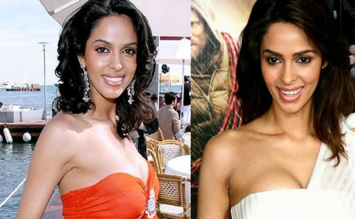 Mallika Sherawat before and after breast implants