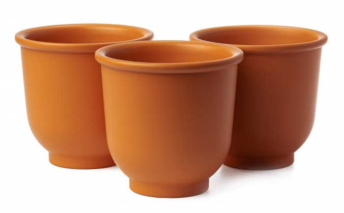get creative empty flower pots