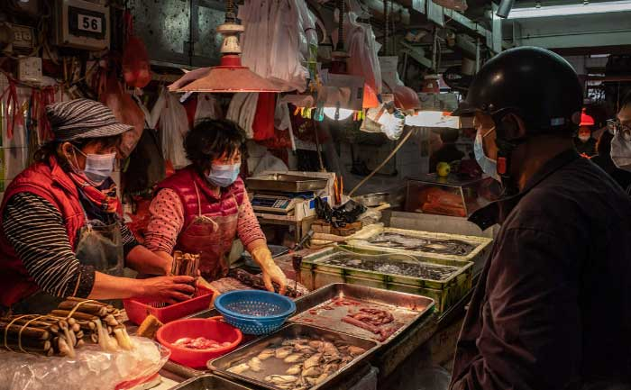 Wuhan's seafood market remains sealed